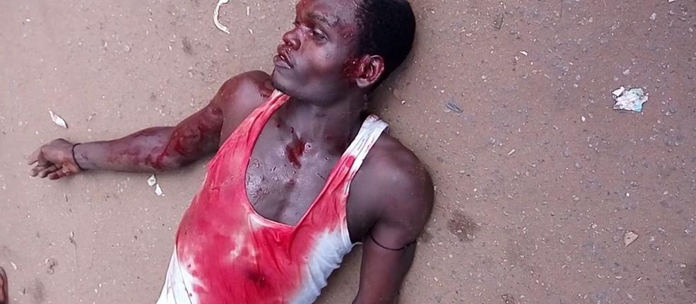 Unarmed Biafra Protester