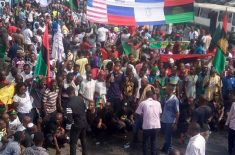 Biafrans Trump Rally – Killings by Nigerian Army 2