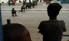 Deadly shooting position of Nigerian army against peaceful Biafran protesters